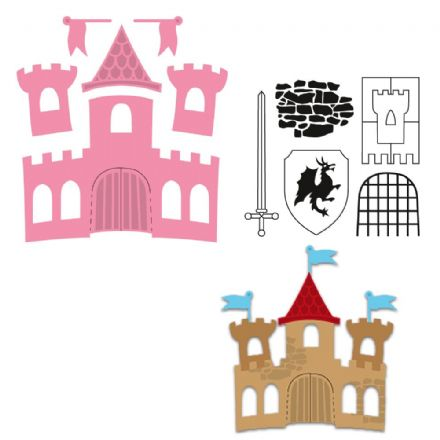COL1404 ~ CASTLE ~ Marianne Design Collectables